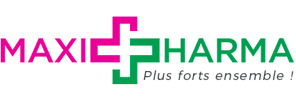 Logo Maxipharma : Plus forts ensemble !